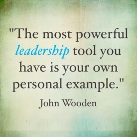 John Wooden powerful leadership quote