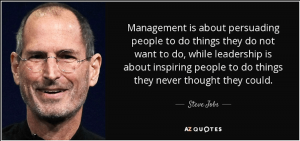 Steve Jobs with leadership quote